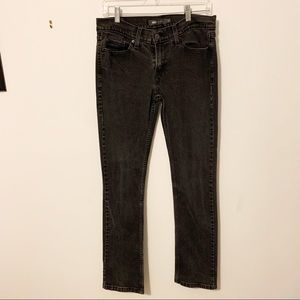 Levi's 524 black straight leg jeans size 11